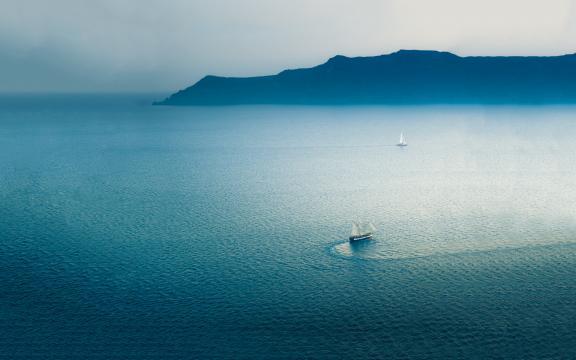 当海和天连成一线