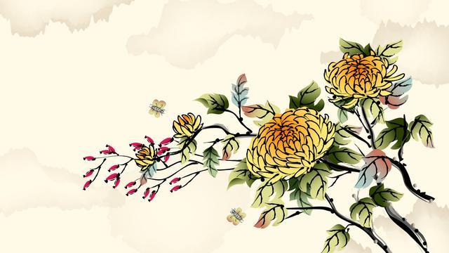 中国风矢量水墨画