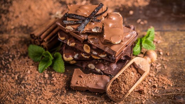 美味巧克力和可可粉图片