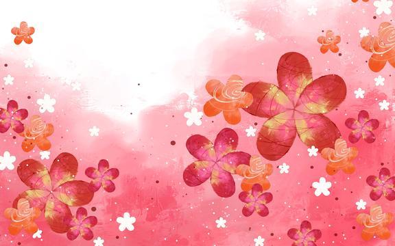 梦幻花朵背景图片