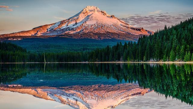 壮观的雪山