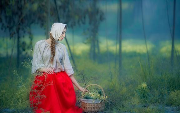 欧洲乡野女孩朴素唯美写真