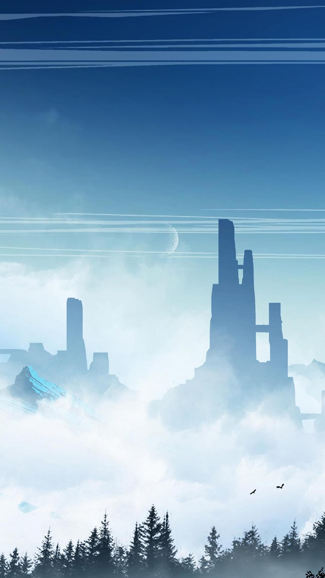 云间上唯美风光意境