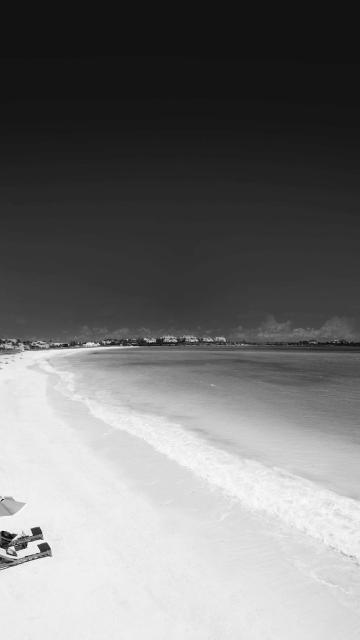 红外海滩海边黑白