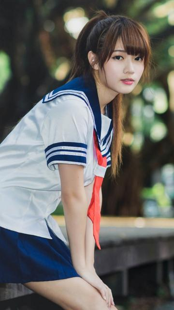 清纯气质校服学生妹