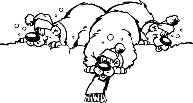 可爱卡通黑白动物图片