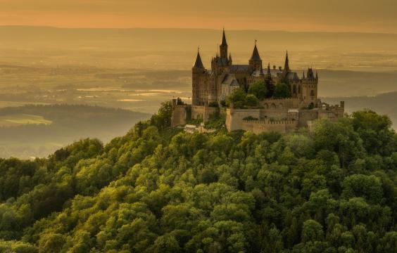 美丽的霍亨索伦城堡