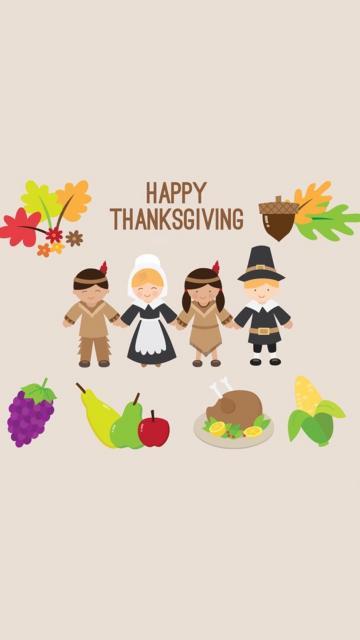 手拉手一起庆祝感恩节