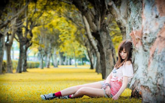 台湾甜妹子超美小清新写真