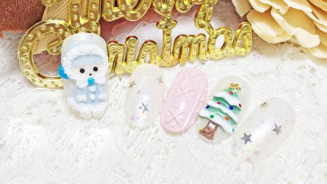 圣诞节唯美美甲