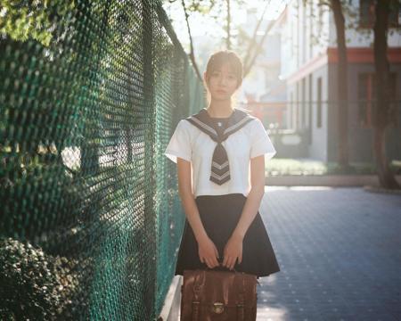 清纯美女日系水手服写真
