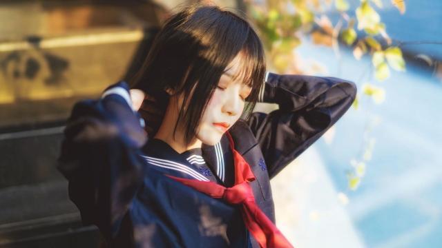 清纯少女水手制服校园唯美写真